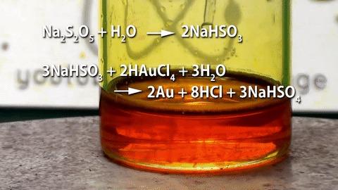 Золото в гифках Химия, Лига химиков, Гифка, Золото, Опыт, Металл, Длиннопост