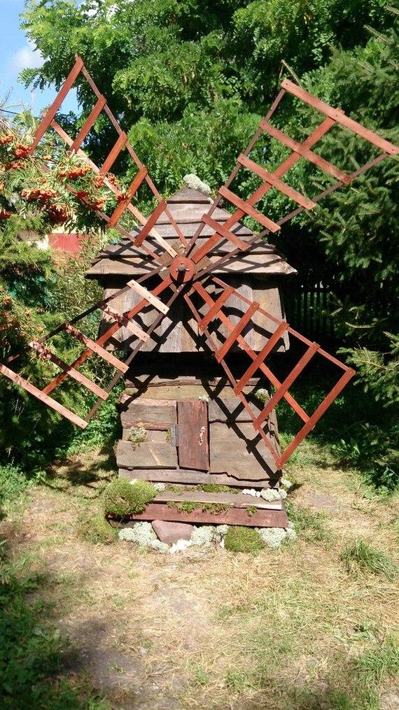 Декоративная мельница из старых досок для сада Мельница, Изделия из дерева, Своими руками, Рукоделие без процесса, Сад, Ручная работа, Длиннопост