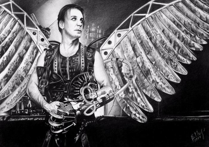 """Рисунок карандашом """"Till Lindemann"""" Рисунок, Рисунок карандашом, Карандаш, Арт, Тилль Линдеманн, Rammstein, Реализм, Вера Изотова"""