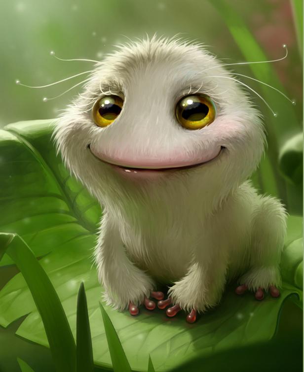 Лягушка выздоровела) Лягушки, Wacom, Photoshop, Компьютерная графика, Белая, Пушистый, Природа, Длиннопост
