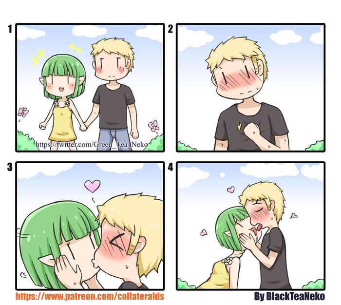 Девушка, мужество, первый поцелуй!