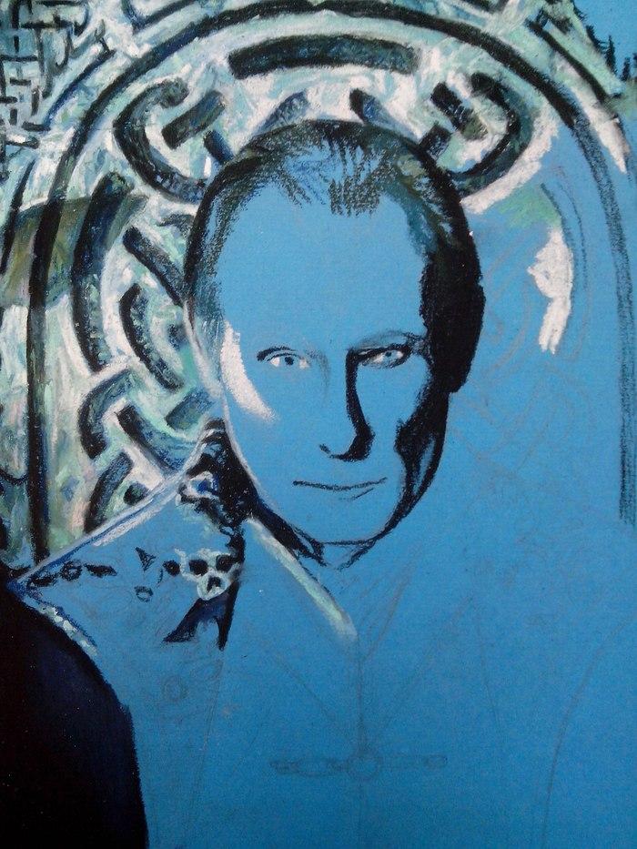 Виктор (Рисунок пастелью) Анна бубнова, Рисунок, Underworld, Другой мир, Другой мир: Войны крови, Арт, Длиннопост