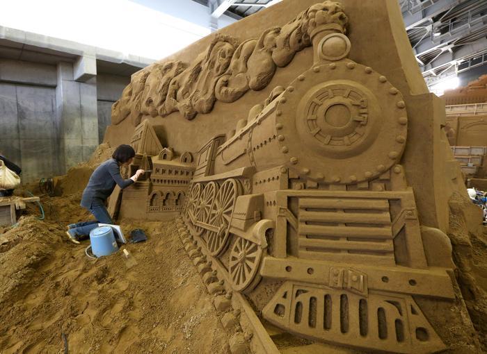 Песочный локомотив