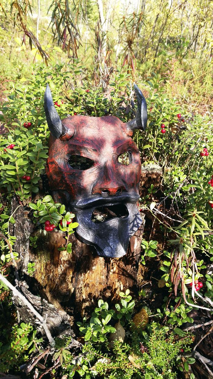 Uncle Oni mask Pepakura, Фотография, Природа, Длиннопост