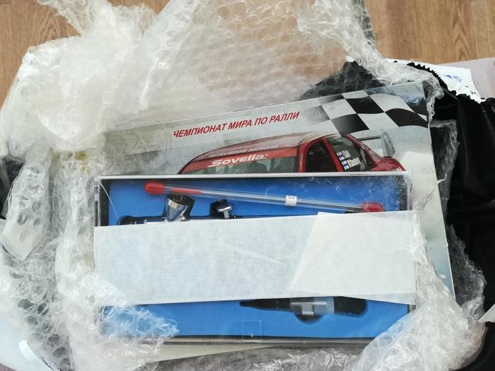 Как мне аэрограф подарили Почта России, Аэрограф, Подарок, Счастье, Моделиста, Длиннопост
