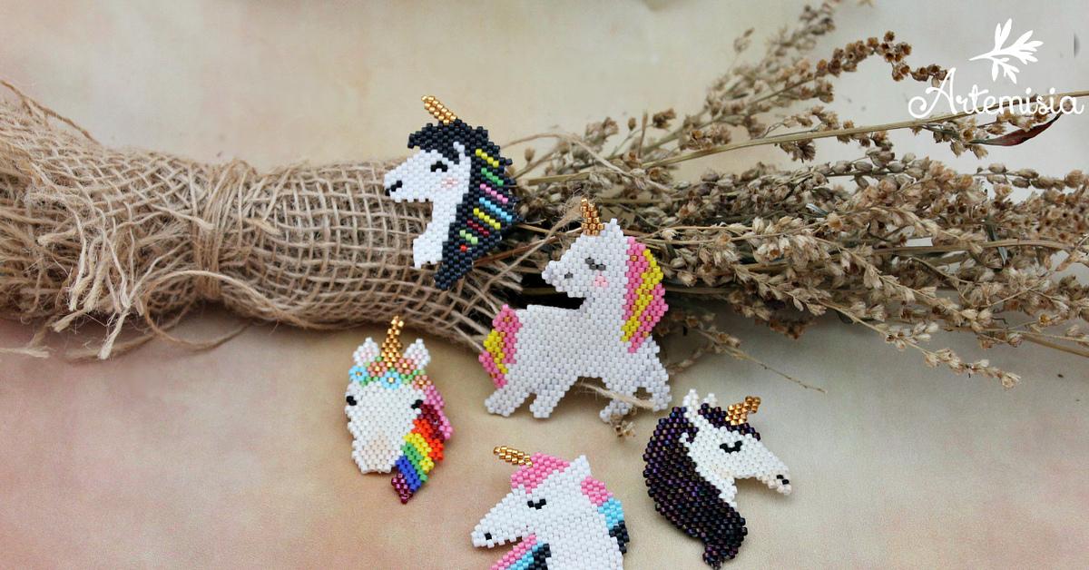 картинки плетение из бисера единорожки нить