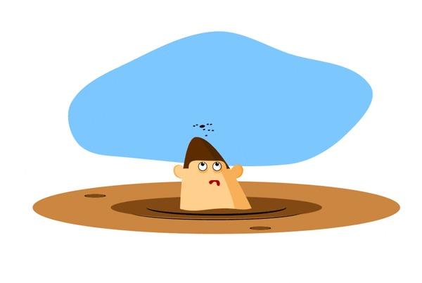 Голова в болоте Голова, Муха, Гифка, Gif анимация, Анимация