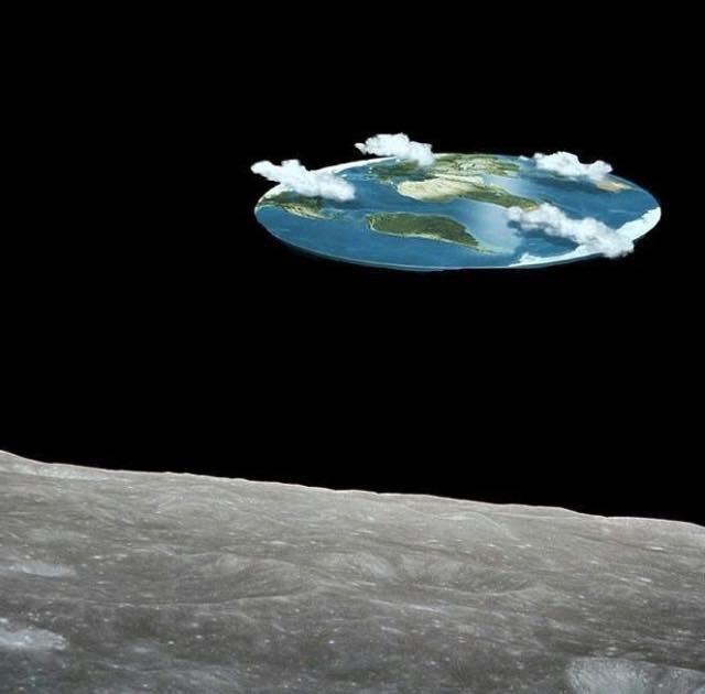 Как на самом деле выглядит земля с поверхности луны