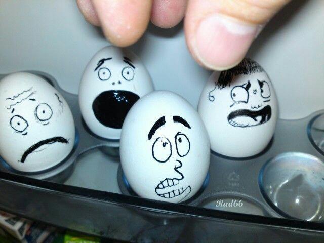 Прикольные рисунки на яйца