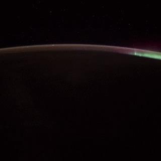 Полярное сияние с МКС Гифка, Полярное сияние, Канада, МКС, Космос