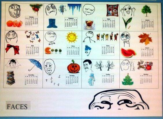 Календарь за 2011 год