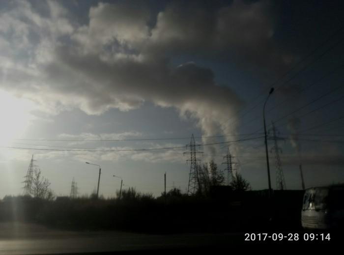 Теперь я знаю, где делают облака(южная тэц, спб) Облака, Тэц