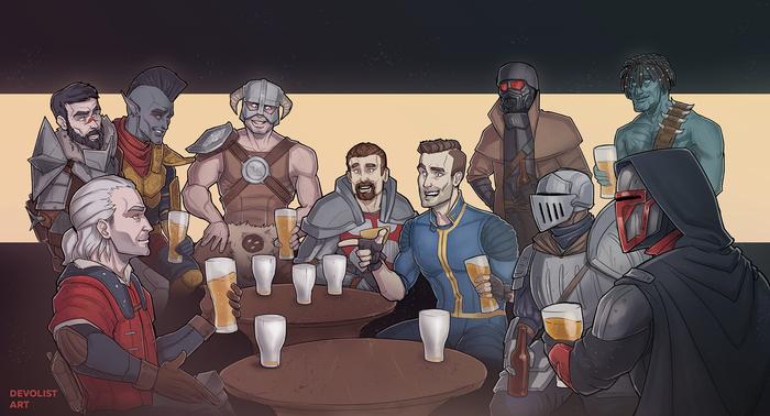 Посиделки в баре (мои любимые RPG 2) Skyrim, Fallout, Kotor, The Witcher 3:Wild Hunt, Dark souls, Morrowind, Fallout: New Vegas, Gothic