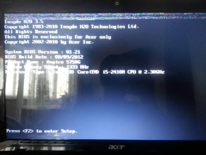 Теперь еще и ноутбук умер. Ноутбук, Помощь, Acer