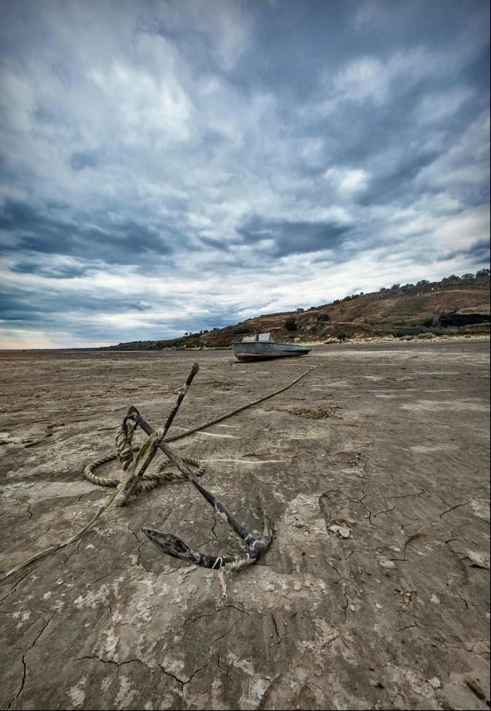 Обмелевший Таганрогский залив Таганрогский залив, Панорама, Природа, Побережье, Длиннопост