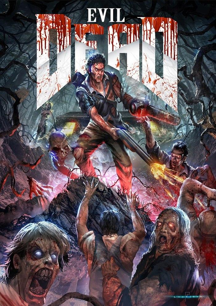 Неплохой кроссовер) Doom, Crossover, Ash vs evil dead, Арт