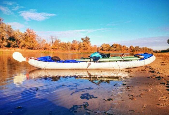 На надувной лодке под парусом! своими руками, байдарка, Парусник, поход, туризм, сплав по реке, лодка, видео, длиннопост