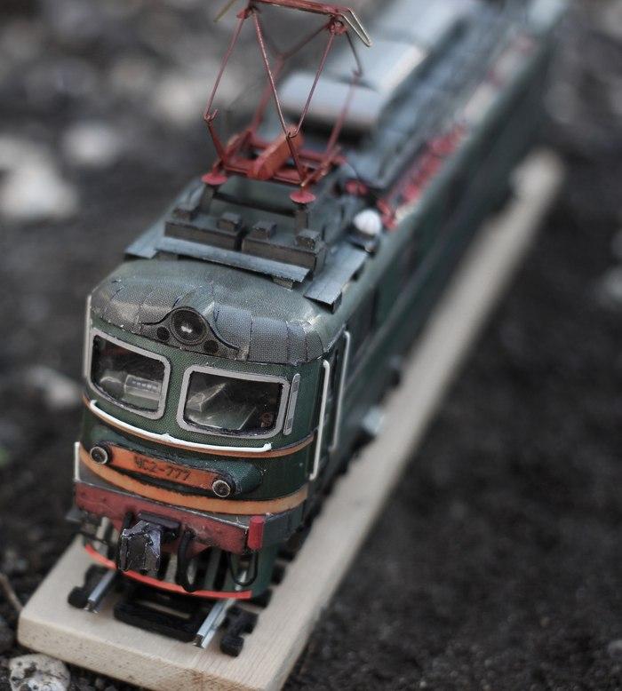 Электровоз ЧС2 из бумаги Papercraft, Изделия из бумаги, Ручная работа, Бумага, Электровоз, Железная дорога, Моделизм, Длиннопост