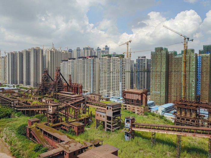 Гуанчжоу, Китай Китай, Фотография, Заброшенное, Спальный район