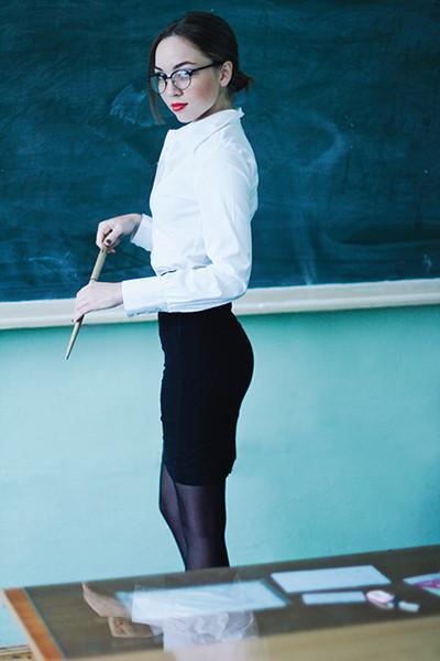 Девушка учительница из универа