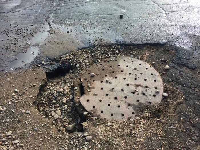 Ещё про ямы на дорогах - 2 Яма, Дорога, Биробиджан, ДТП