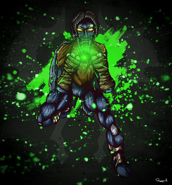 Разиэль (Legacy of Kain: Soul reaver) Арт, Рисунок, Цифровой рисунок, Разиэль, Legacy of Kain, Длиннопост