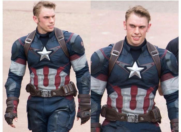 Дублер Криса Эванса выглядит так, как будто Гидра создала злого клона Капитана Америки.
