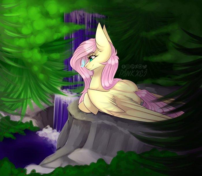 Флаттершай My little pony, Fluttershy, Ponyart