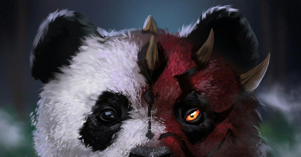 Злой панда картинка