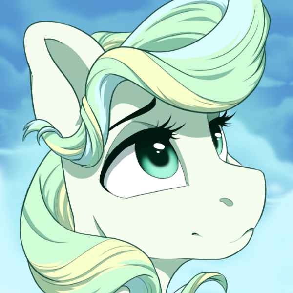 Белоснежная My little pony, Vapor Trail, Ponyart