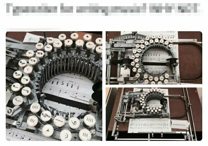 Печатная машинка для нот... А почему бы и нет?!