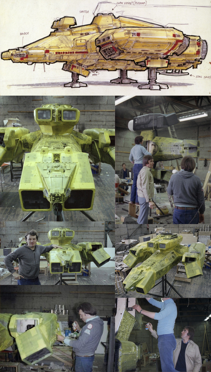 """Реставрация модели USCSS """"Ностромо"""" из фильма Ридли Скотта """"Чужой"""" 1979г. (ЧАСТЬ 1) Чужой, Ридли Скотт, Ностромо, Nostromo, Моделизм, Стендовый моделизм, Реставрация, Длиннопост"""