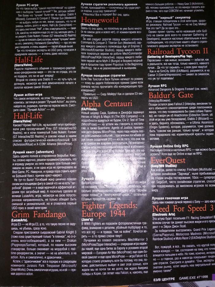 Игровой журнал Game.exe за 1998 год (E3). Длиннопост, Компьютерные игры, Ностальгия, Назад в 90е, Game exe, Игрожур, Tiberian sun, Dune II:The Battle for Arracis
