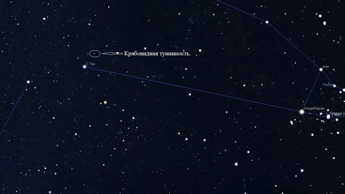 Достопримечательности созвездия Тельца. Космос, Созвездия, Небо, Космические объекты, Плеяды, Крабовидная туманность, Длиннопост