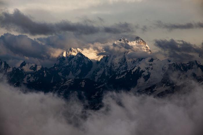 Ушба Фотография, Горы, Кавказ, Пейзаж