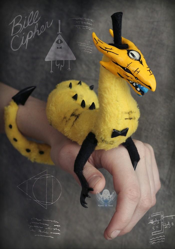 Bill Cipher Gravity Falls, Bill Cipher, Змей, Ручная работа, Рукоделие без процесса, Мягкая игрушка, Длиннопост