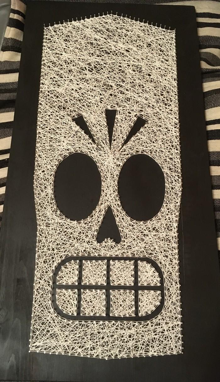 Manny Calavera в String Art String art, Grim fandango, Моё