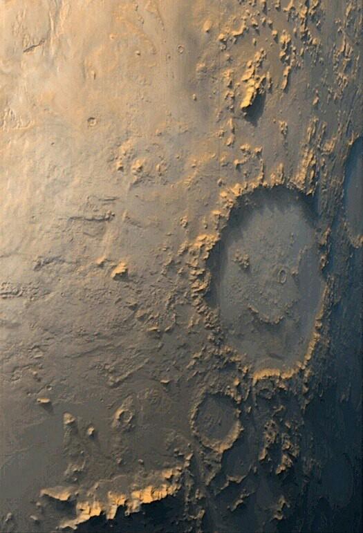 Марс, который нам улыбается. кратеры, марс, огромный смайлик, длиннопост