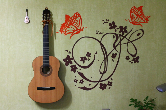 Решил немного испортить гитару) Гитара, Акустическая гитара, Апгрейд, Роспись, Резьба по дереву, Длиннопост