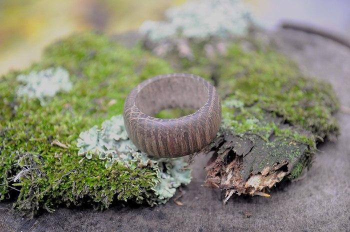 """Кольцо из """"мореного"""" дуба Кольцо из дерева, Рукоделие без процесса, Своими руками, Дуб, Handmade, Ручная работа, Длиннопост"""