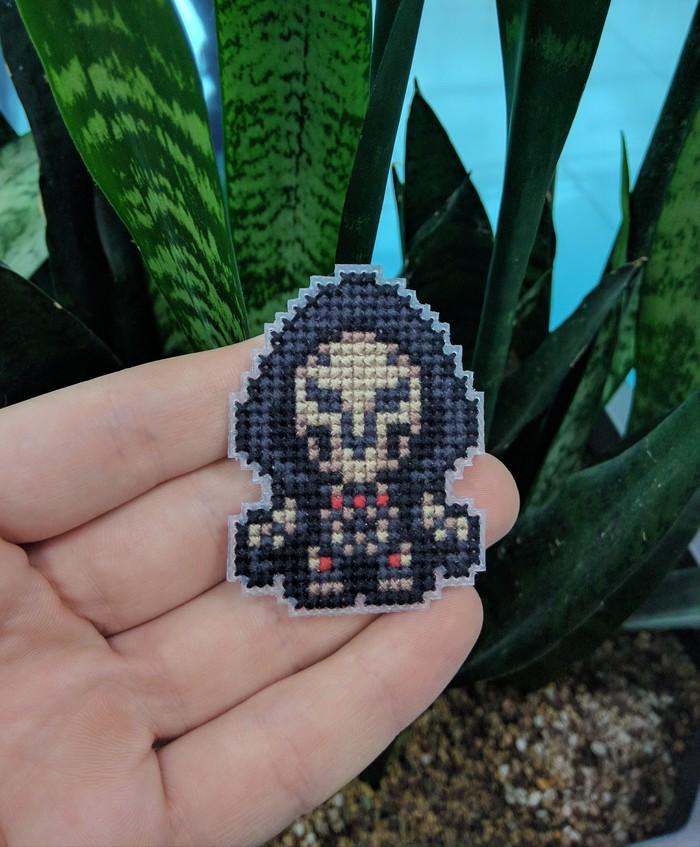 Жнец (вышивка) Overwatch, Жнец, Reaper, Нашивка, Вышивка крестом