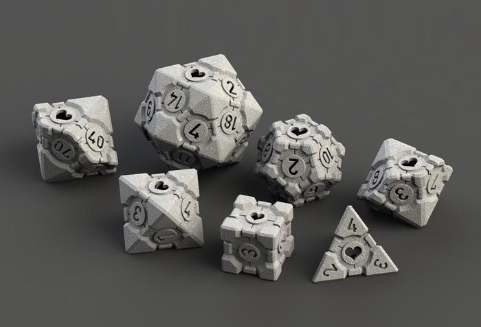 Игральные кости в стиле куба-компаньона