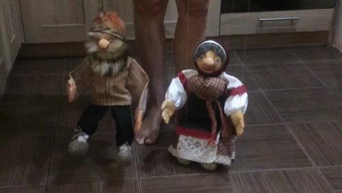 Кукол дергают за нитки :) Марионетки, Своими руками, Детям, Не мое, Моей жены, Гифка