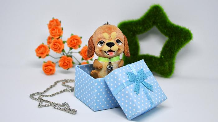 Готовим подарки к Новому Году Собака, Символ года, Рукоделие, Мастер-Класс, Творчество, Полимерная глина, Мини-Игрушка, Видео, Длиннопост