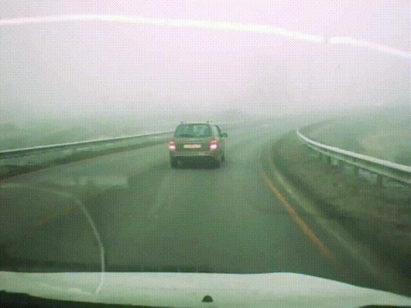 Все как в тумане #2 ДТП, Пензенская область, Туман, Ford Focus, Увернулся, Перевертыш, Гифка, Видео