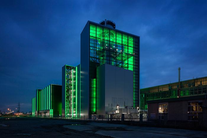 Электростанция Lausward Электростанция, Германия, Дюссельдорф, Современная архитектура, Длиннопост