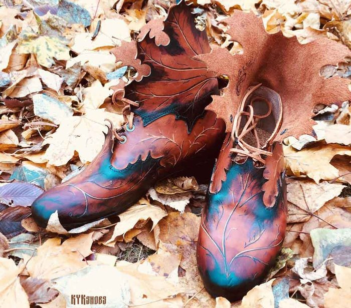 Осенние краски в коже Ручная работа, Обувь, Кожа, Осень, Женская обувь, Длиннопост