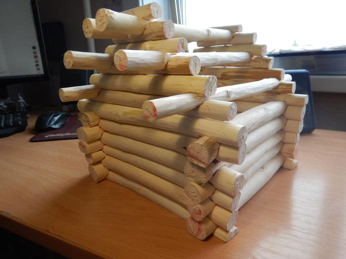 """Шкатулка """"Дом хозяйки леса"""" (часть первая) рукоделие, handmade, шкатулка, избушка на курьих ножках, длиннопост"""