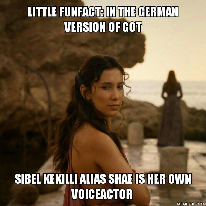 Когда тебе не впервой работать с немецким кинематографом Игра престолов, Шая, Сибель Кекилли, Немецкое кино
