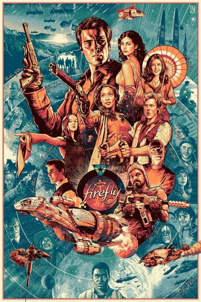 Постер к сериалу Firefly. Арт, Светлячок, Миссия Серенити